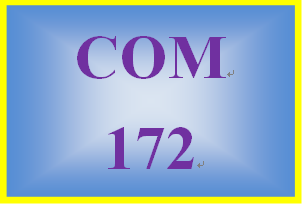 COM 172 Week 4 Rough Draft