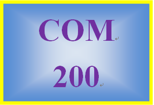 COM 200 Week 3 Self-Assessment: Communication Style