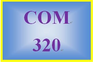 COM 320 Week 1 Learning Team Charter