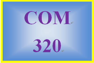 COM 320 Week 5 Journal