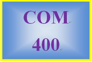 COM 400 Week 4 New Media Paper and Meme