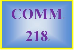 COMM 218 Entire Course