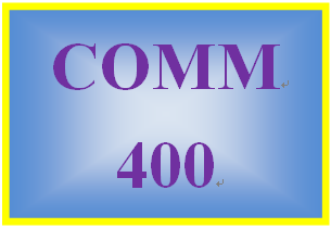 COMM 400 Week 1 Communications Journal Entry 1 – Organizational Communication Information Flow