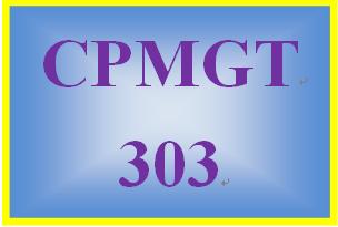 CPMGT 303 Week 2 Project Management Plan Proposal Presentation