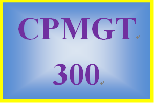 CPMGT 300 Week 2 Planning Process Groups Paper
