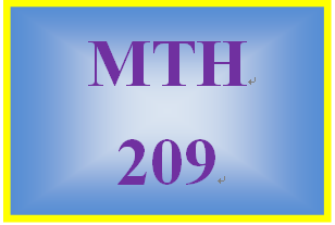 MTH 209 Week 2 MyMathLab Study Plan for Week 2 Checkpoint