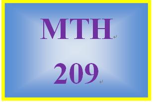 MTH 209 Week 3 MyMathLab Study Plan for Week 3 Checkpoint