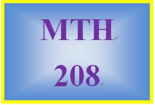 MTH 208 Week 4 MyMathLab Study Plan for Week 4 Checkpoint