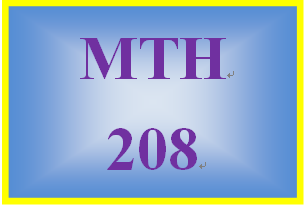 MTH 208 Week 1 Checkpoint