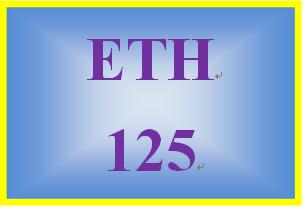 ETH 125 Week 1 Diversity Worksheet