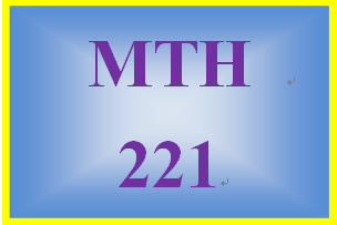 MTH 221 Week 4 Connect Exercises