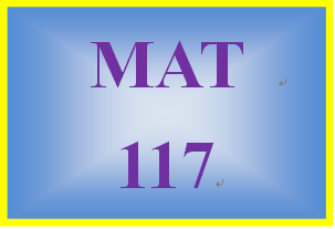 MAT 117 Week 1 MyMathLab Study Plan for Week 1 Checkpoint