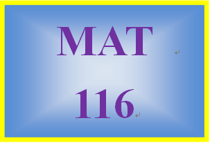MAT 116 Week 1 MyMathLab Study Plan for Week 1 Checkpoint
