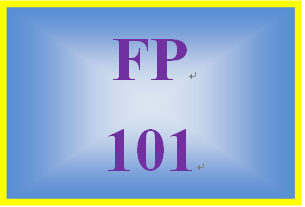 FP 101 Week 3 Credit Protection and Identity Theft Worksheet