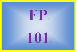 FP 101 Week 9 Understanding Taxes Worksheet