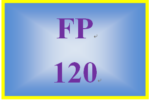 FP 120 Week 1 Personal Cash Flow Statement