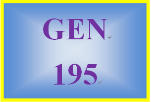 GEN 195 Week 4 Learning Styles and Effective Study Habits