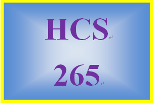 HCS 265 Week 5 Process Improvement Statement