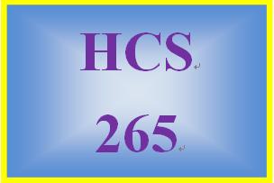 HCS 265 Week 5 Signature Assignment: Course Presentation