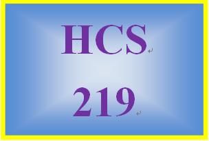 HCS 219 Week 2 Ratio Analysis