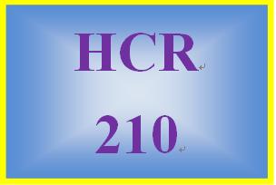 HCR 210 Week 8 Career Self-Reflection II