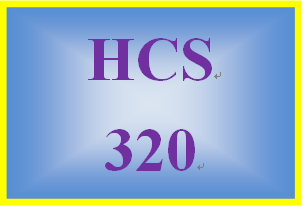 HCS 320 Week 3 Health Care Process