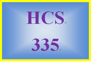 HCS 335 Week 4 Biomedical Example