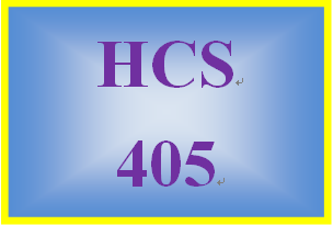 HCS 405 Week 5 Sensitivity Analysis