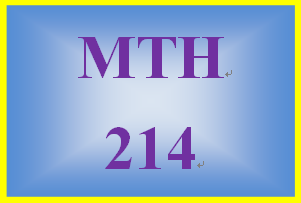MTH 214 Week 1 MyMathLab Mastery Points Formative Assessment
