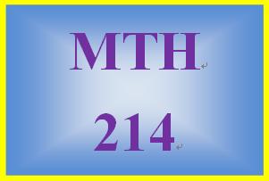 MTH 214 Week 1 Quiz