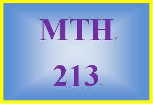 MTH 213 Week 3 MyMathLab® Mastery Points PretestFormative Assessment