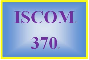 ISCOM 370 Week 5 Supply Chain