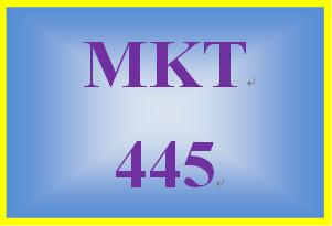 MKT 445 Week 5 Sales Plan: Phase Three