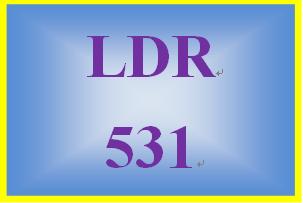 LDR 531 Week 1 QUIZ