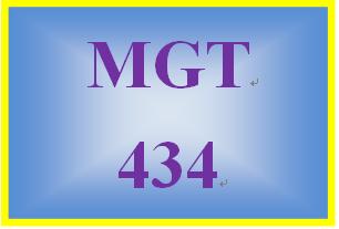 MGT 434 Week 3 Interactive Simulation Paper