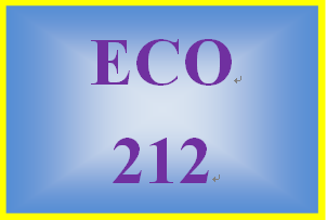 ECO 212 Week 4 Fiscal and Monetary Policy Analysis
