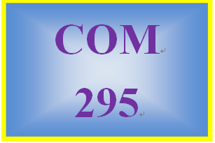 COM 295 Week 1 Communication Process Worksheet