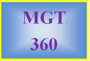 MGT 360 Week 2 Organizational Change Paper