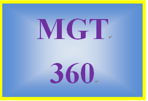 MGT 360 Week 5 Culture of Sustainability