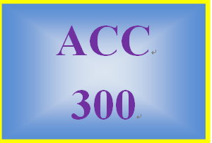 ACC 300 Week 3 Working With Financial Statements