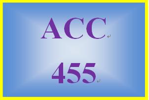 ACC 455 Week 4 Team Assignment, Part 2