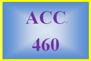 ACC 460 Week 4 Ch. 13 Multiple Choice Assignment