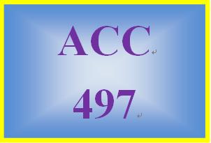 ACC 497 Week 2 Textbook Cases