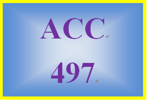 ACC 497 Week 3 Textbook Problems