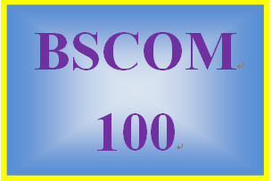 BSCOM 100 Week 5 Special Issues Paper and Presentation