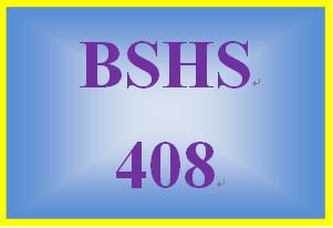 BSHS 408 Week 2 Intervention Worksheet