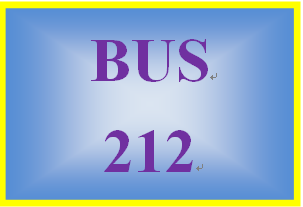 BUS 212 Week 3 Collaborative Discussion Reflection