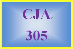 CJA 305 Week 4 Week Four Worksheet