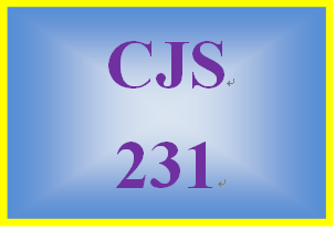 CJS 231 Week 2 Biological Criminal Behavior