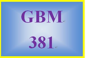 GBM 381 Week 2 Due Diligence